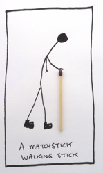 Matchstick stick
