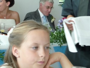 Bride and groom's father